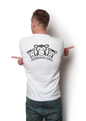 3Gibbons Logo - Back White